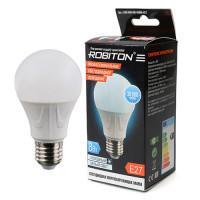 Лампа светодиодная Robiton E27, 8Вт, 4200К, груша