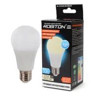 Лампа светодиодная Robiton E27, 10Вт, 2700К, груша