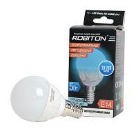 Лампа светодиодная Robiton E14, 5Вт, 4200К, шар