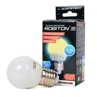 Лампа светодиодная Robiton E27, 5Вт, 2700К, шар