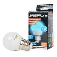 Лампа светодиодная Robiton E27, 5Вт, 4200К, шар
