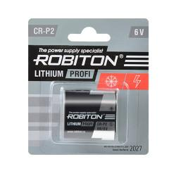 Литиевая батарейка Li-MNO2 Robiton CR-P2 6В