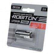 Батарейка литиевая Li-MNO2 Robiton CR123A 3В 1500 мАч