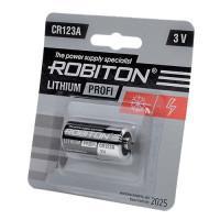 Литиевая батарейка Li-MNO2 Robiton CR123A 3В