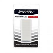 Power Bank Robiton Li5.2-W 5200мАч белый (внешний аккумулятор) 1шт