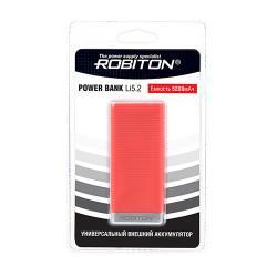 Power Bank Robiton Li5.2-W 5200мАч красный (внешний аккумулятор) 1шт