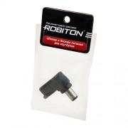 Штекер разъем ROBITON NB-LUAE 6.5х3.0х10 мм угловой для блока питания ноутбуков и нетбуков Toshiba