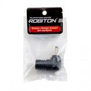 Штекер разъем ROBITON NB-MH 3.5х1.35х10 мм угловой для блока питания ноутбуков и нетбуков Sharp, Dell