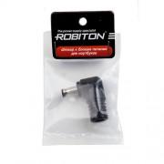 Штекер разъем ROBITON NB-MM 5.5х3.4х10 мм угловой для блока питания ноутбуков и нетбуков Samsung