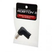 Штекер разъем ROBITON NB-LUCC 5.5х2.2х12 мм угловой для блока питания ноутбуков и нетбуков Acer Aspire One 522