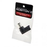 Штекер разъем ROBITON NB-LUQ 6.3х3.0х10 мм угловой для блока питания ноутбуков и нетбуков Toshiba, Nec, IBM