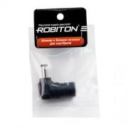 Штекер разъем ROBITON NB-MNU 5.0х3.4х12 мм угловой для блока питания ноутбуков и нетбуков Samsung