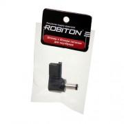 Штекер разъем ROBITON NB-LUNT 5.5х2.0х10.5 мм угловой для блока питания ноутбуков и нетбуков Acer