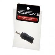 Штекер разъем ROBITON NB-UH 3.5х1.35х10 мм прямой для блока питания ноутбуков и нетбуков Sharp, Dell