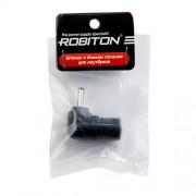 Штекер разъем ROBITON TAB-MND 3.2x0.9х10.5 мм угловой для блока питания ноутбуков и нетбуков Acer