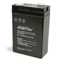 Свинцово-кислотный герметичный необслуживаемый аккумулятор Robiton 6-2,8 VRLA 6В 2,8Ач 1шт