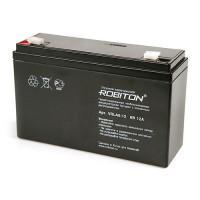 Свинцово-кислотный герметичный необслуживаемый аккумулятор 6В 12 Ач Robiton VRLA6-12