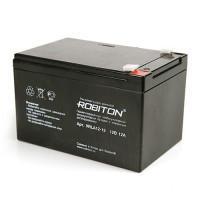 Свинцово-кислотный герметичный необслуживаемый аккумулятор Robiton 12-12 VLRA 12В 12Ач 1шт