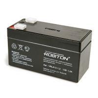 Свинцово-кислотный герметичный необслуживаемый аккумулятор Robiton 12-1,3 VRLA 12В 1,3Ач 1шт