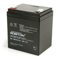 Свинцово-кислотный герметичный необслуживаемый аккумулятор Robiton 12-4,5 VLRA 12В 4,5Ач 1шт