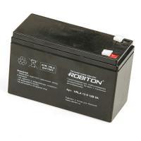 Свинцово-кислотный герметичный необслуживаемый аккумулятор Robiton 12-9 VRLA 12В  9Ач 1шт