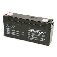 Свинцово-кислотный герметичный необслуживаемый аккумулятор 6В 3.3 Ач Robiton VRLA6-3.3