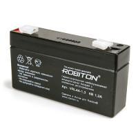 Свинцово-кислотный герметичный необслуживаемый аккумулятор Robiton 6-1,3 VRLA 6В 1,3Ач 1шт