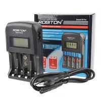 Автоматическое зарядное устройство Ni-Mh, Ni-Cd Robiton Smart4 9V Pro для 4 аккумуляторов AA, AAA, 9V крона с LCD экраном
