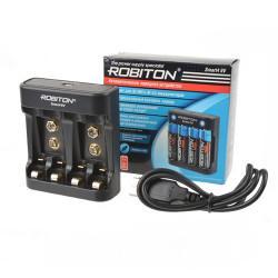 Автоматическое зарядное устройство для Ni-Mh, Ni-Cd Robiton Smart4 9V на 4 аккумулятора AA, AAA, 9V крона