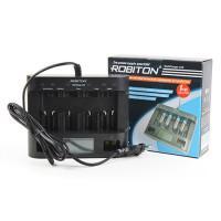 Умное зарядное устройство Robiton MultiCharger LCD для Ni-Mh Ni-Cd аккумуляторов Крона D C AA AAA с ЖК дисплеем