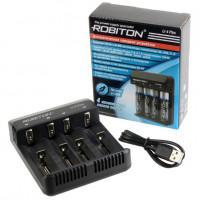 Автоматическое зарядное устройство Li-Ion Ni-Cd Ni-Mh Robiton Li-4 Plus для 4-х аккумуляторов