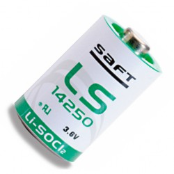 Специальная литиевая батарейка Saft LS 14250 1200 мАч 3,6В 1/2AA