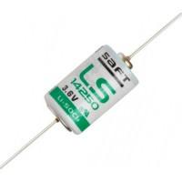Специальная литиевая батарейка Saft LS 14250 1/2AA CNA с аксиальными выводами