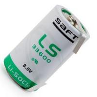Специальная литиевая батарейка Saft LS 33600 D CNR с лепестковыми выводами
