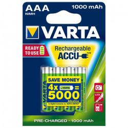 Аккумуляторы Ni-Mh Varta 5703 Recharge Accu Power AAA 1000мАч 1,2В 4шт