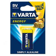 Батарейка Varta 4122 Energy 9В Крона щелочная 1шт
