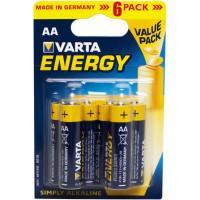 Батарейки Varta 4106 Longlife AA 1,5В щелочные 6шт
