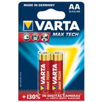Батарейки Varta 4706 Longlife Max Power AA 1,5В щелочные 2шт