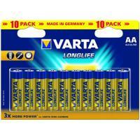 Батарейки Varta 4106 Longlife AA 1,5В щелочные 10шт