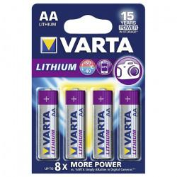 Батарейки Varta 6106 Ultra Lithium AA 1,5В литиевые 4шт