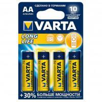 Батарейки Varta 4106 Longlife AA 1,5В щелочные 4шт