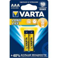 Батарейки Varta 4103 Longlife AAA 1,5В щелочные 2шт