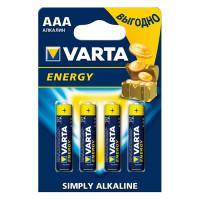 Батарейки Varta 4103 Longlife AAA 1,5В щелочные 4шт