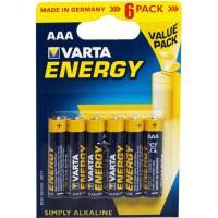 Батарейки Varta 4103 Longlife AAA 1,5В щелочные 6шт