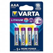 Батарейки Varta 6103 Ultra Lithium AAA 1,5В литиевые 4шт