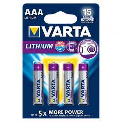 Батарейки Varta Lithium AAA 4шт