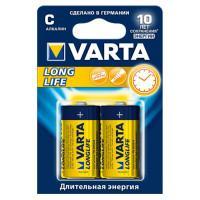 Батарейки Varta 4114 Longlife C 1,5В щелочные 2шт