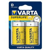 Батарейки Varta 2020 Superlife D 1,5В солевые 2шт