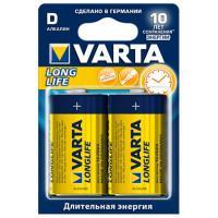 Батарейки Varta 4120 Longlife D 1,5В щелочные 2шт