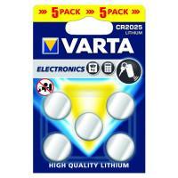 Батарейки Varta 6032 CR2032 3В дисковые литиевые 5шт